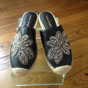 NWT Marc Fisher embellished mules.